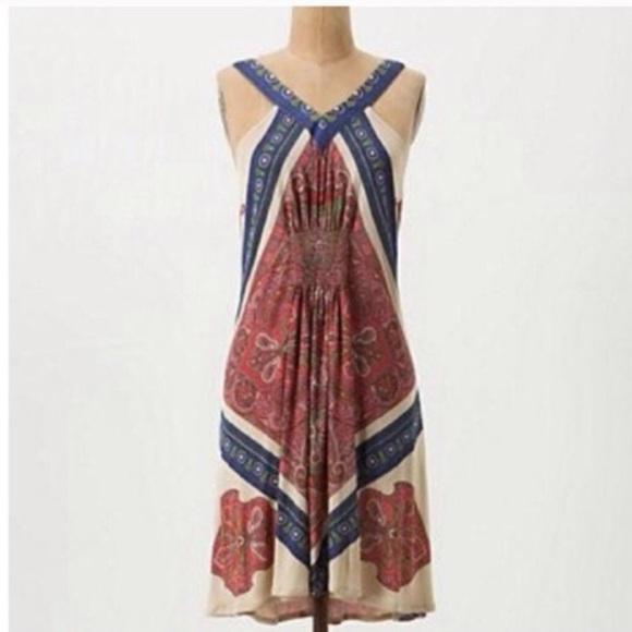 5ad6cd206b11 Anthropologie Dresses | Anthros Leifnotes Paisley Swing Dress | Poshmark